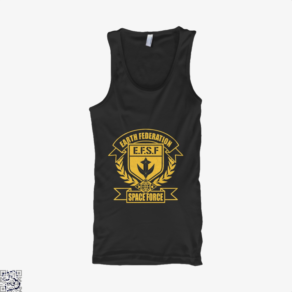 Efsf Gundam Tank Top - Women / Black / X-Small - Productgenjpg