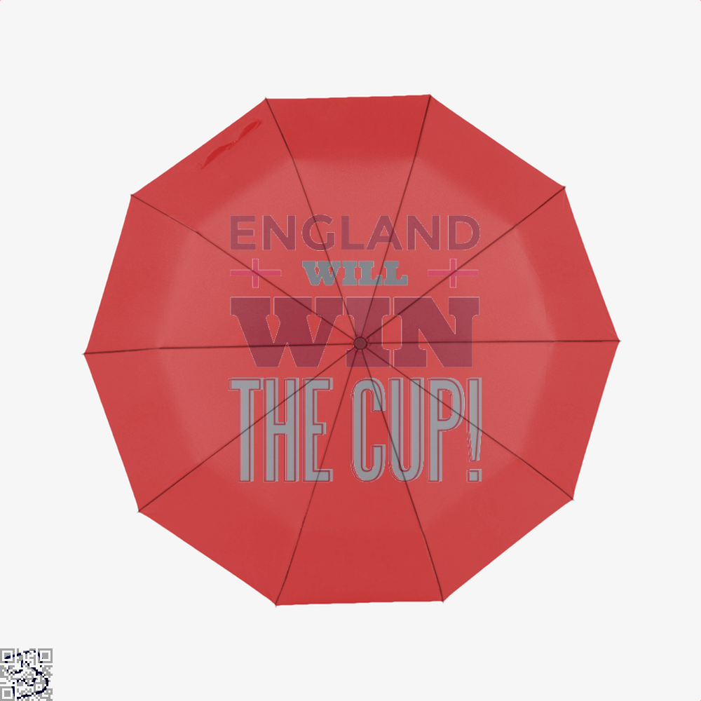 England Will Win The Cup Fifa World Umbrella - Red - Productgenapi