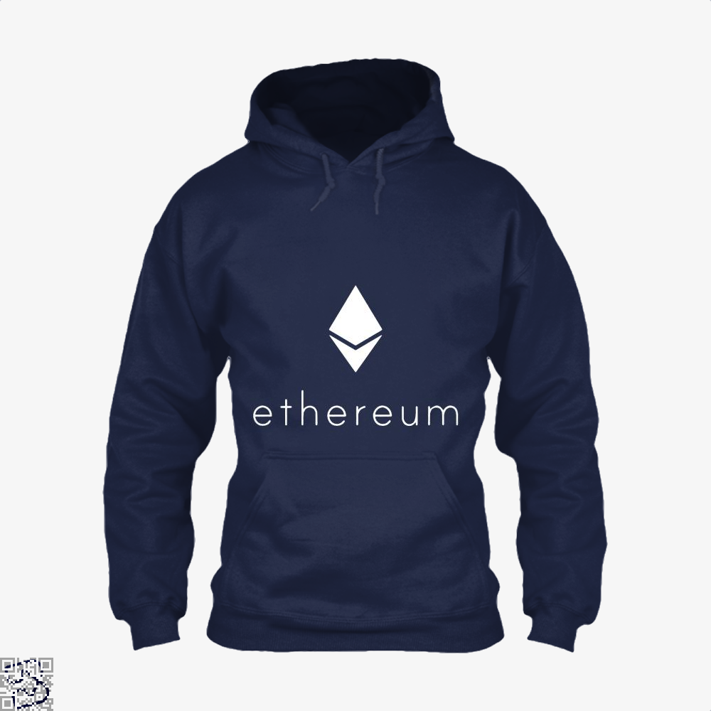 Ethereum Logo Cryptocurrency Hoodie - Blue / X-Small - Productgenapi