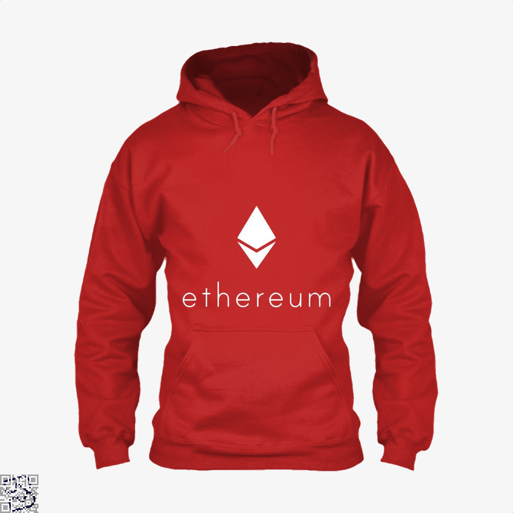 Ethereum Logo Cryptocurrency Hoodie - Red / X-Small - Productgenapi