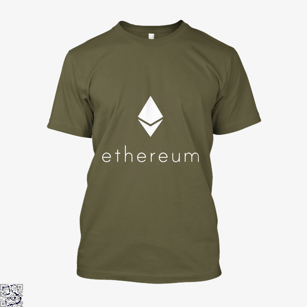 Ethereum Logo Cryptocurrency Shirt - Men / Brown / X-Small - Productgenapi