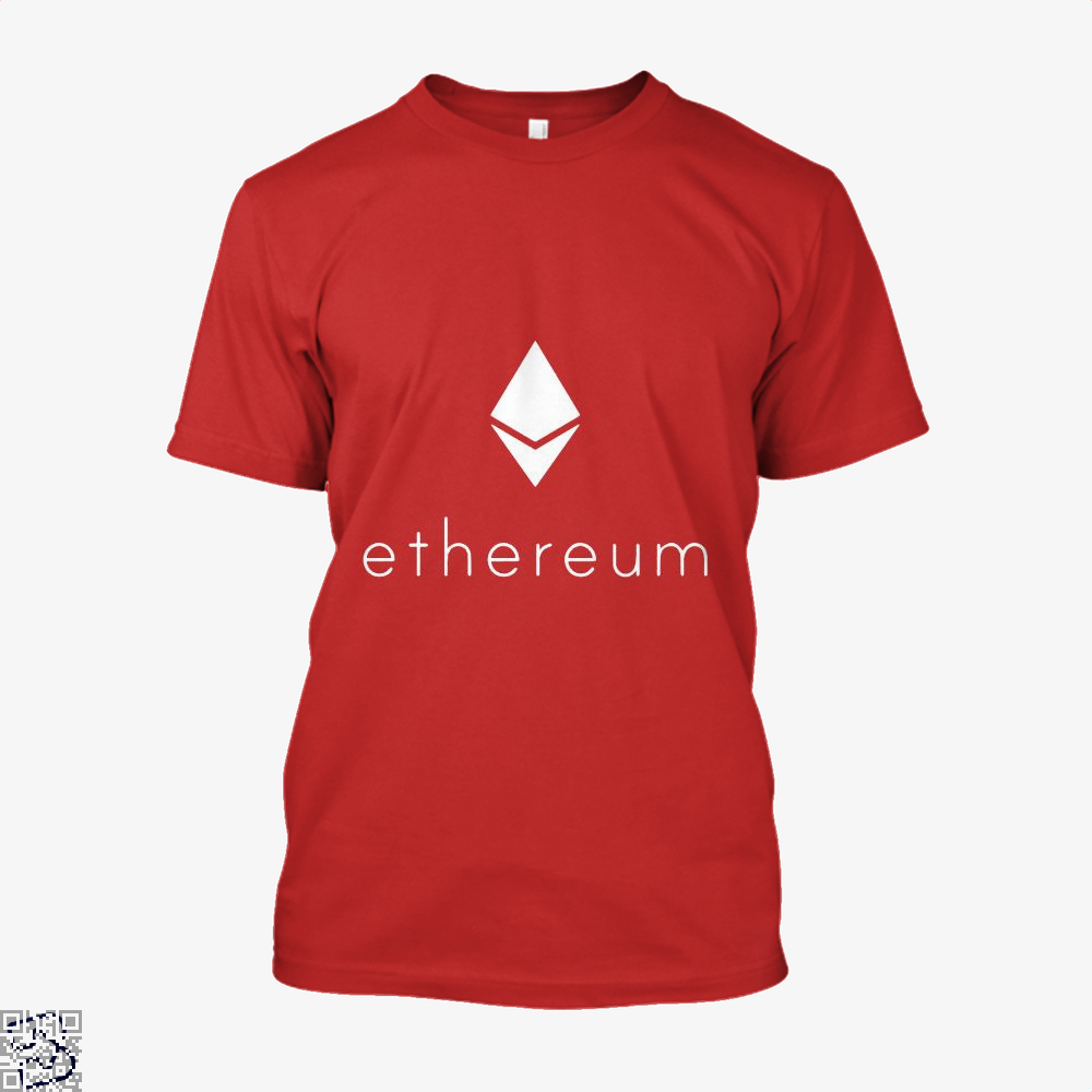 Ethereum Logo Cryptocurrency Shirt - Men / Red / X-Small - Productgenapi