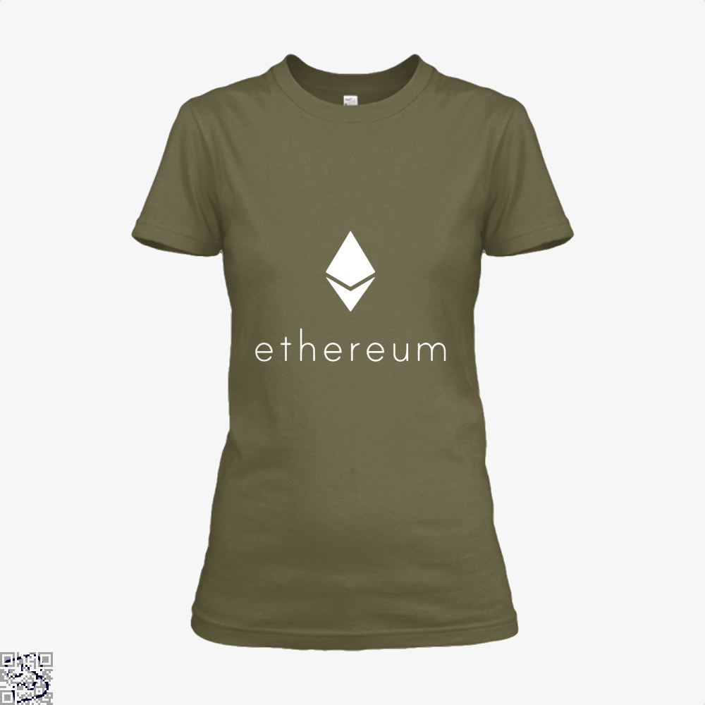 Ethereum Logo Cryptocurrency Shirt - Women / Brown / X-Small - Productgenapi