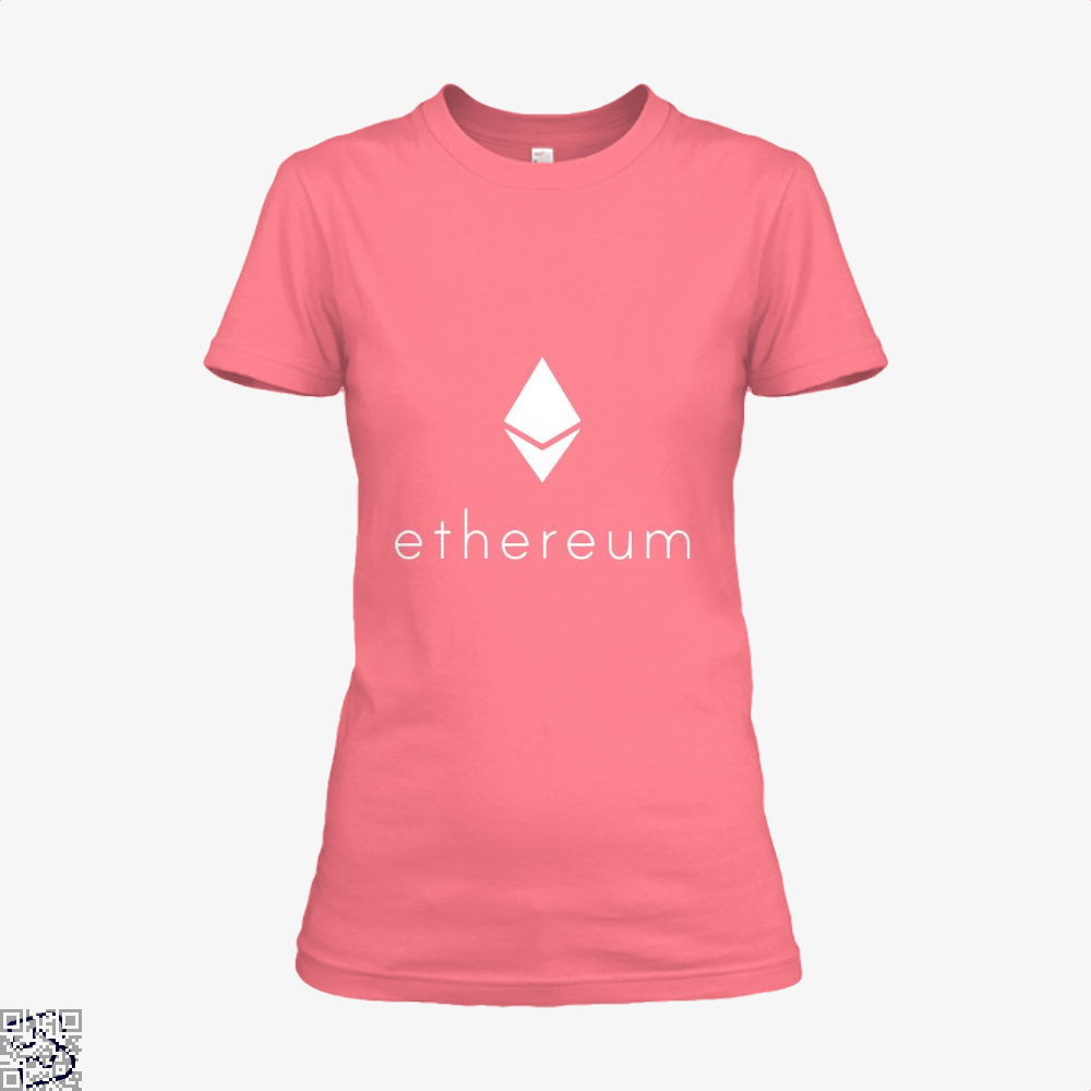 Ethereum Logo Cryptocurrency Shirt - Women / Pink / X-Small - Productgenapi