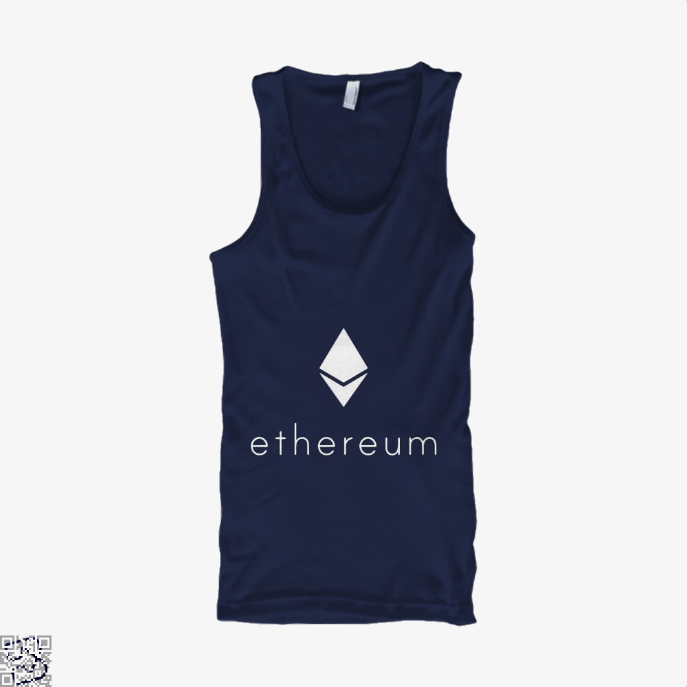 Ethereum Logo Cryptocurrency Tank Top - Men / Blue / Small - Productgenapi