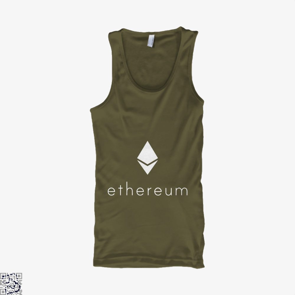 Ethereum Logo Cryptocurrency Tank Top - Men / Brown / Small - Productgenapi