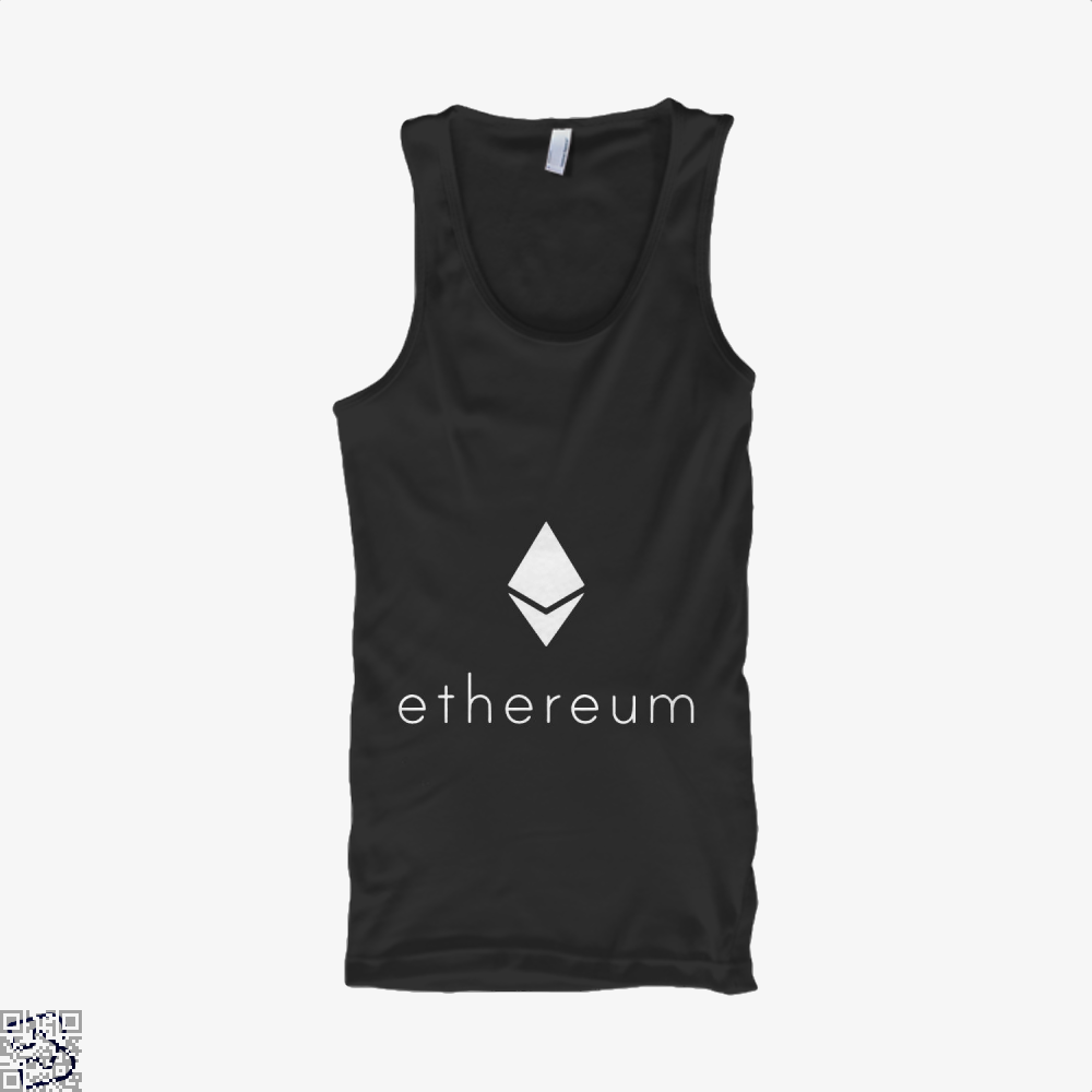 Ethereum Logo Cryptocurrency Tank Top - Women / Black / Small - Productgenapi