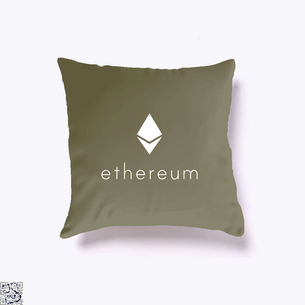 Ethereum Logo Cryptocurrency Throw Pillow Cover - Brown / 16 X - Productgenapi