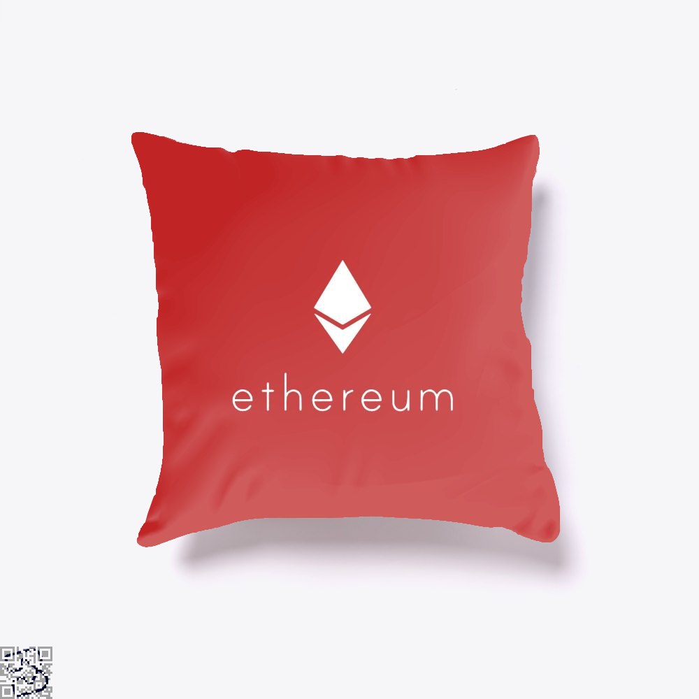 Ethereum Logo Cryptocurrency Throw Pillow Cover - Red / 16 X - Productgenapi