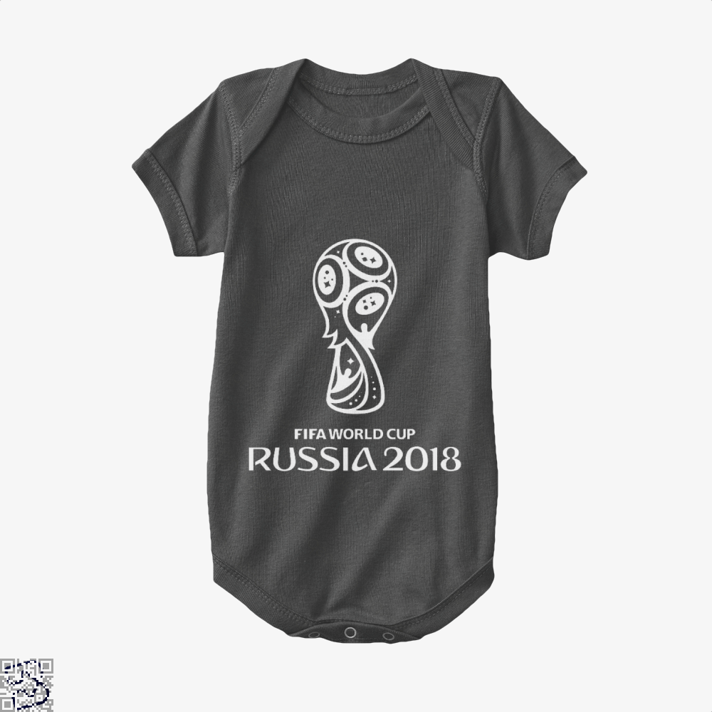 Fifa World Cup Russia 2018 Baby Onesie - Black / 0-3 Months - Productgenapi