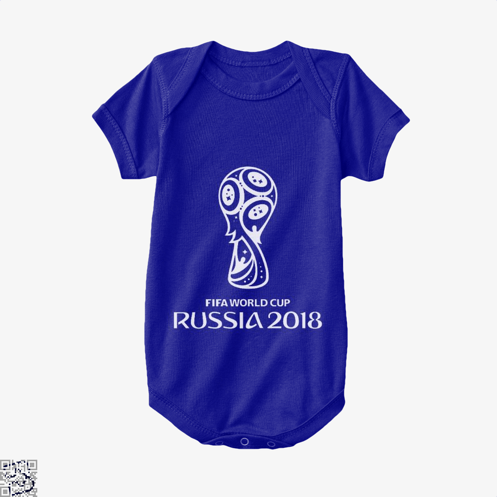 Fifa World Cup Russia 2018 Baby Onesie - Navy / 0-3 Months - Productgenapi