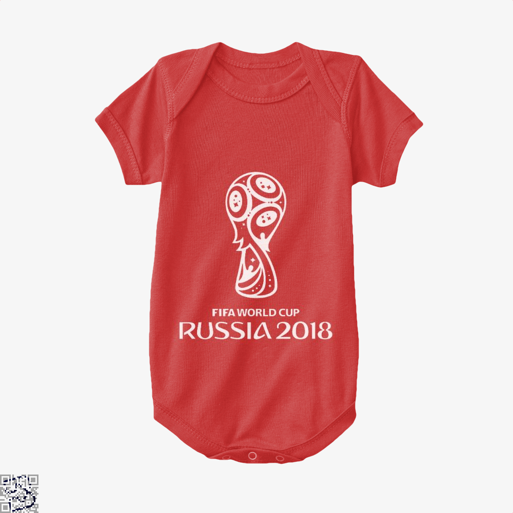 Fifa World Cup Russia 2018 Baby Onesie - Red / 0-3 Months - Productgenapi
