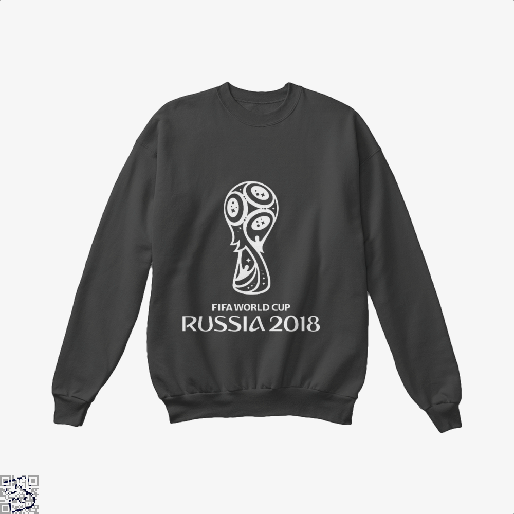 Fifa World Cup Russia 2018 Crew Neck Sweatshirt - Black / X-Small - Productgenapi