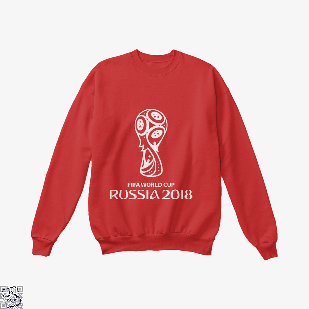 Fifa World Cup Russia 2018 Crew Neck Sweatshirt - Red / X-Small - Productgenapi