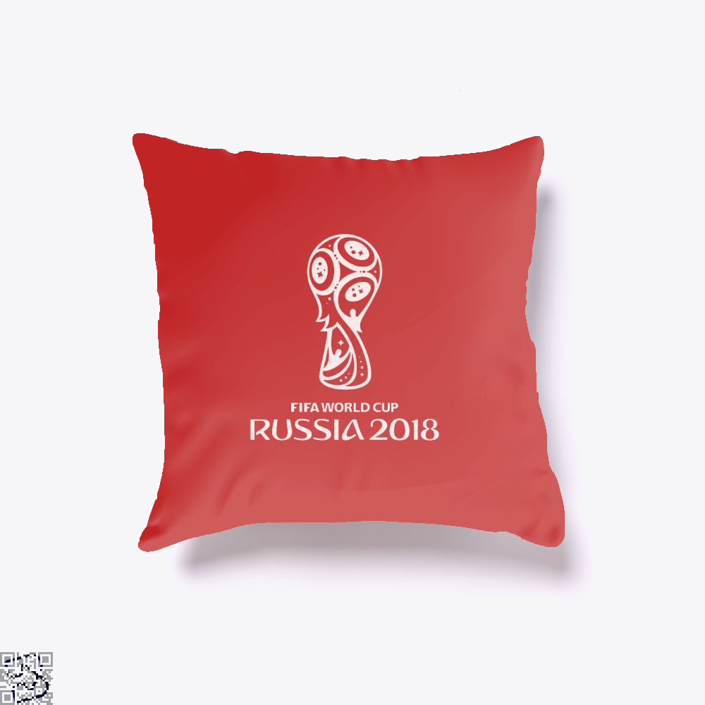 Fifa World Cup Russia 2018 Throw Pillow Cover - Red / 16 X - Productgenapi