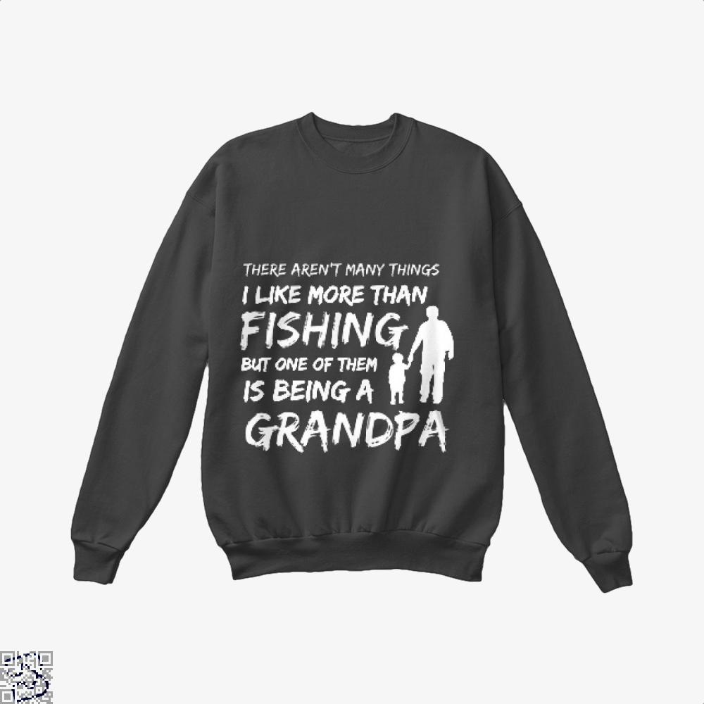 Fishing And Being A Grandpa Crew Neck Sweatshirt - Black / X-Small - Productgenjpg
