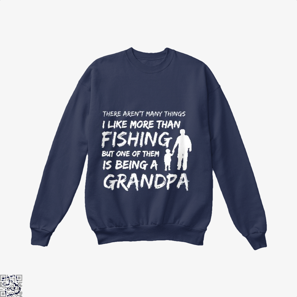 Fishing And Being A Grandpa Crew Neck Sweatshirt - Blue / X-Small - Productgenjpg