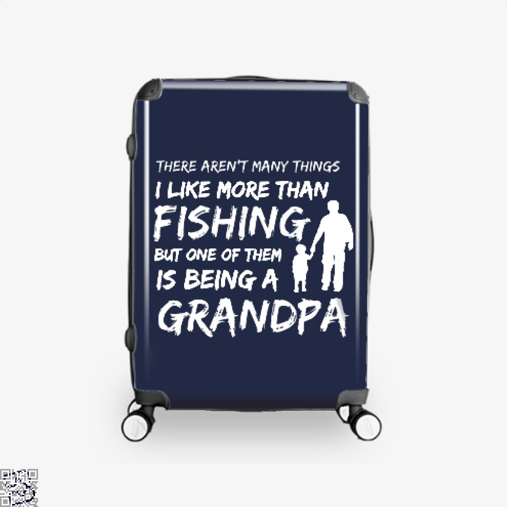 Fishing And Being A Grandpa Suitcase - Blue / 16 - Productgenjpg