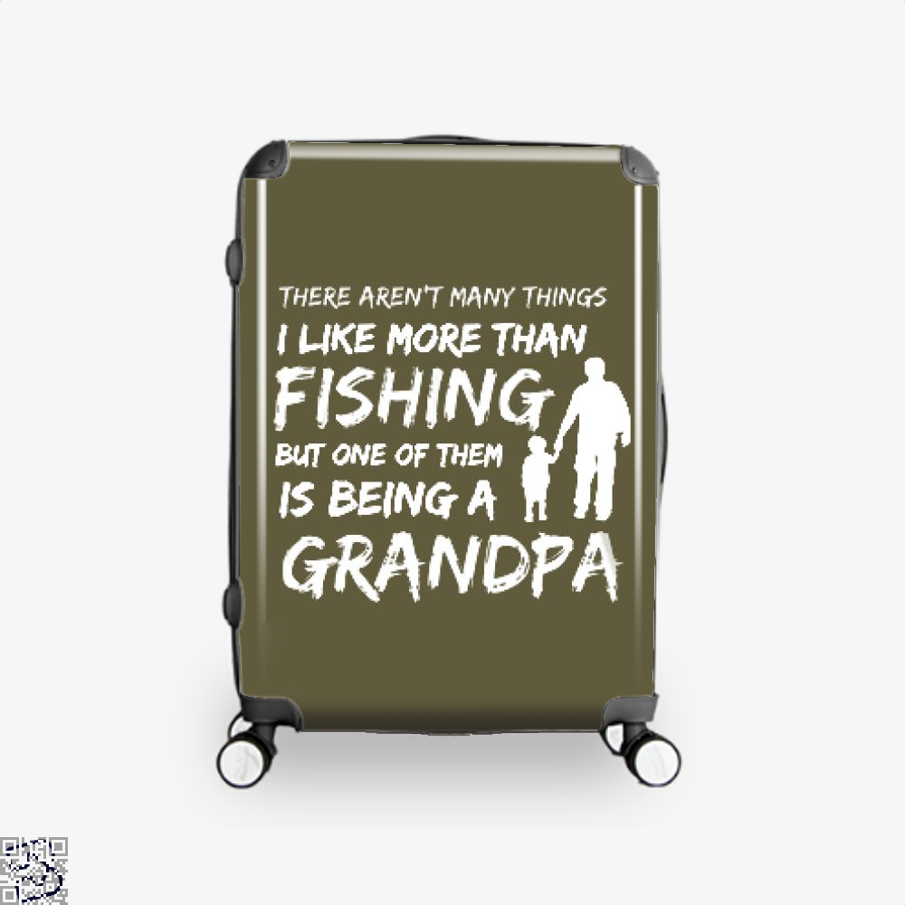 Fishing And Being A Grandpa Suitcase - Brown / 16 - Productgenjpg