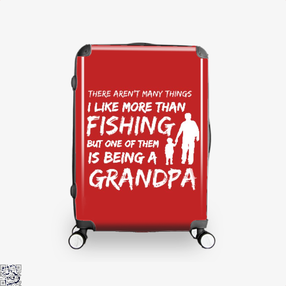 Fishing And Being A Grandpa Suitcase - Red / 16 - Productgenjpg