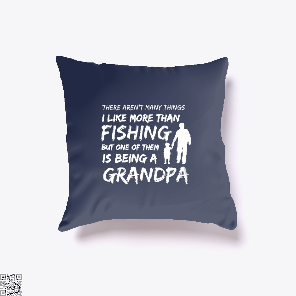 Fishing And Being A Grandpa Throw Pillow Cover - Blue / 16 X - Productgenjpg