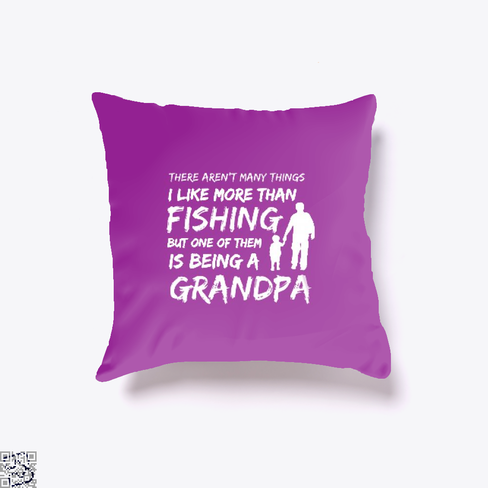 Fishing And Being A Grandpa Throw Pillow Cover - Purple / 16 X - Productgenjpg