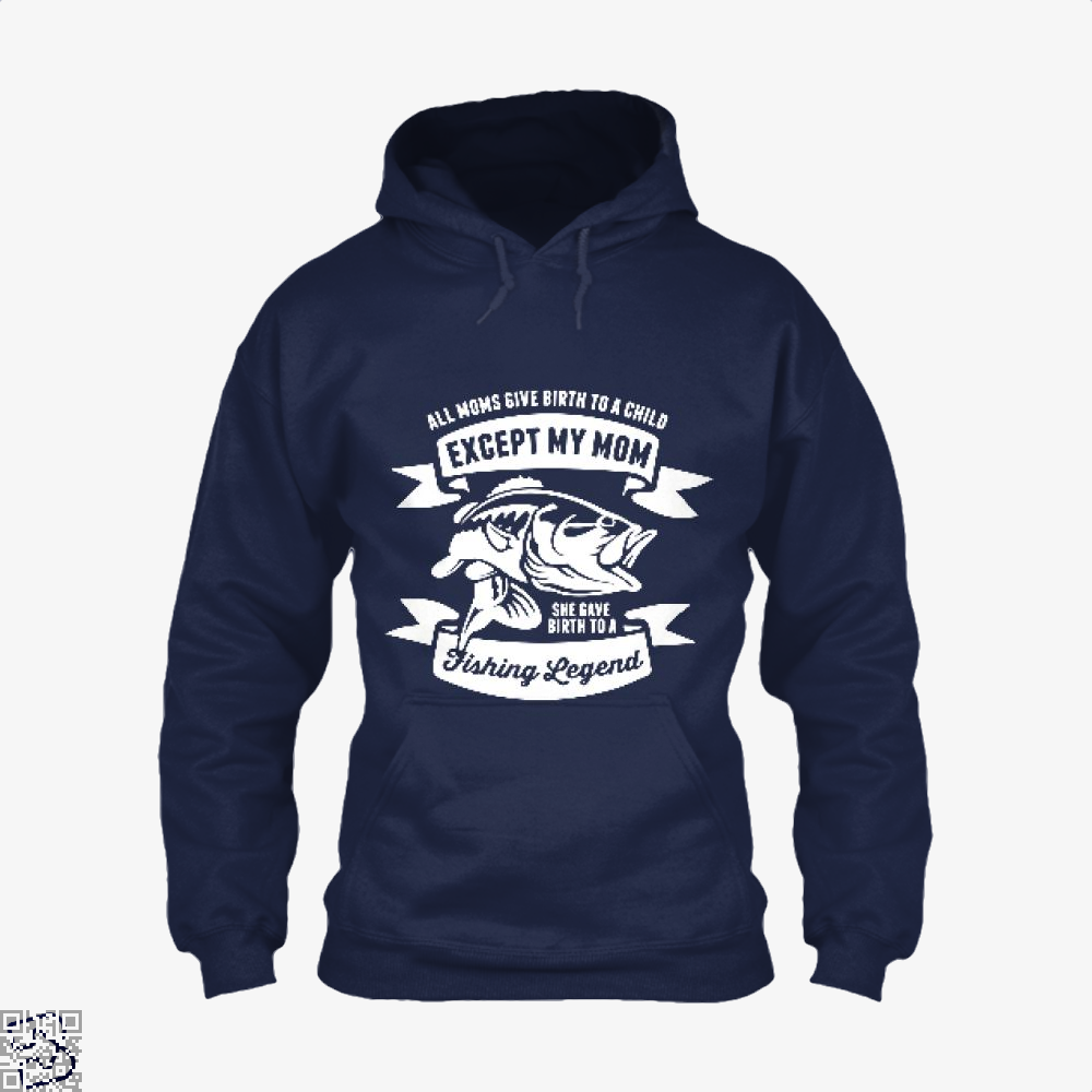 Fishing Legend Hoodie - Blue / X-Small - Productgenjpg