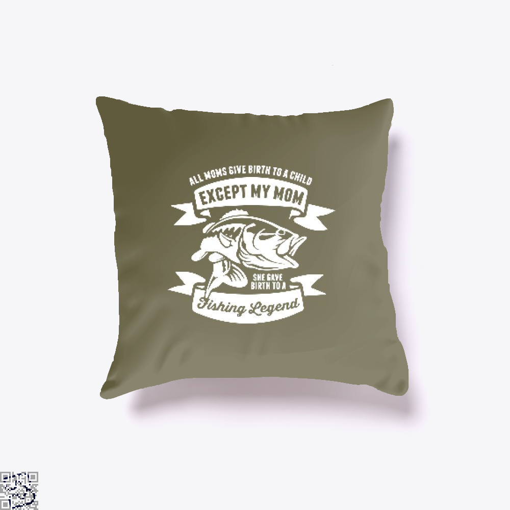 Fishing Legend Throw Pillow Cover - Brown / 16 X - Productgenjpg