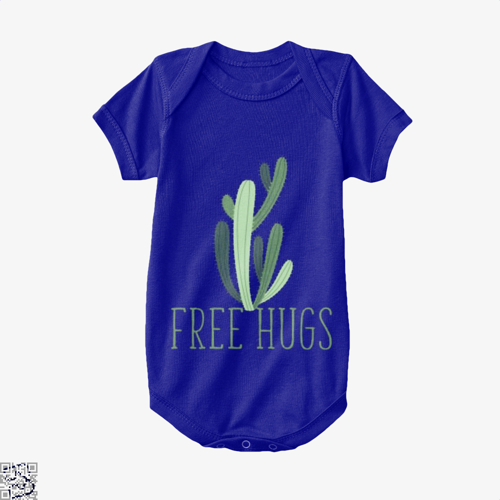Free Hugs Cactus Satirical Baby Onesie - Navy / 0-3 Months - Productgenapi