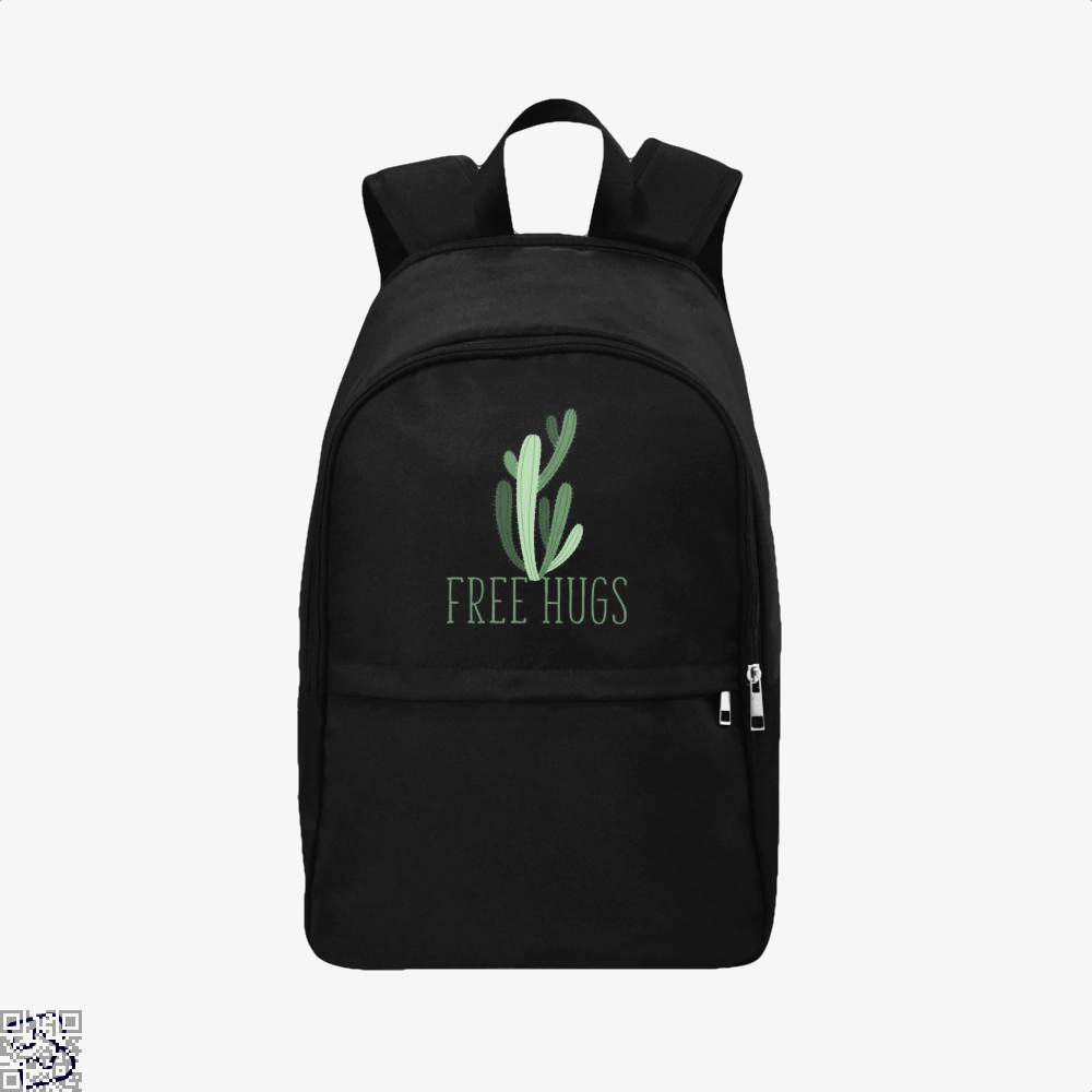 Free Hugs Cactus Satirical Backpack - Black / Adult - Productgenapi