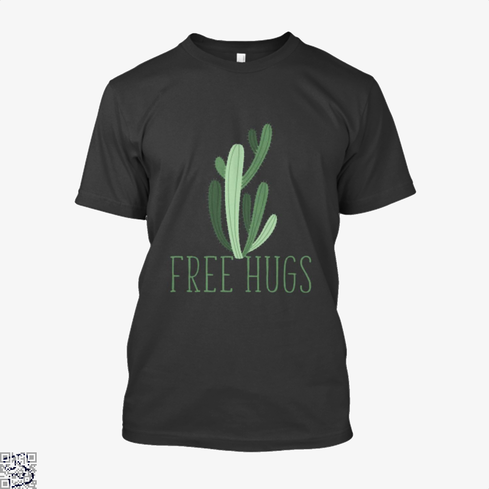 Free Hugs Cactus Satirical Shirt - Men / Black / X-Small - Productgenapi