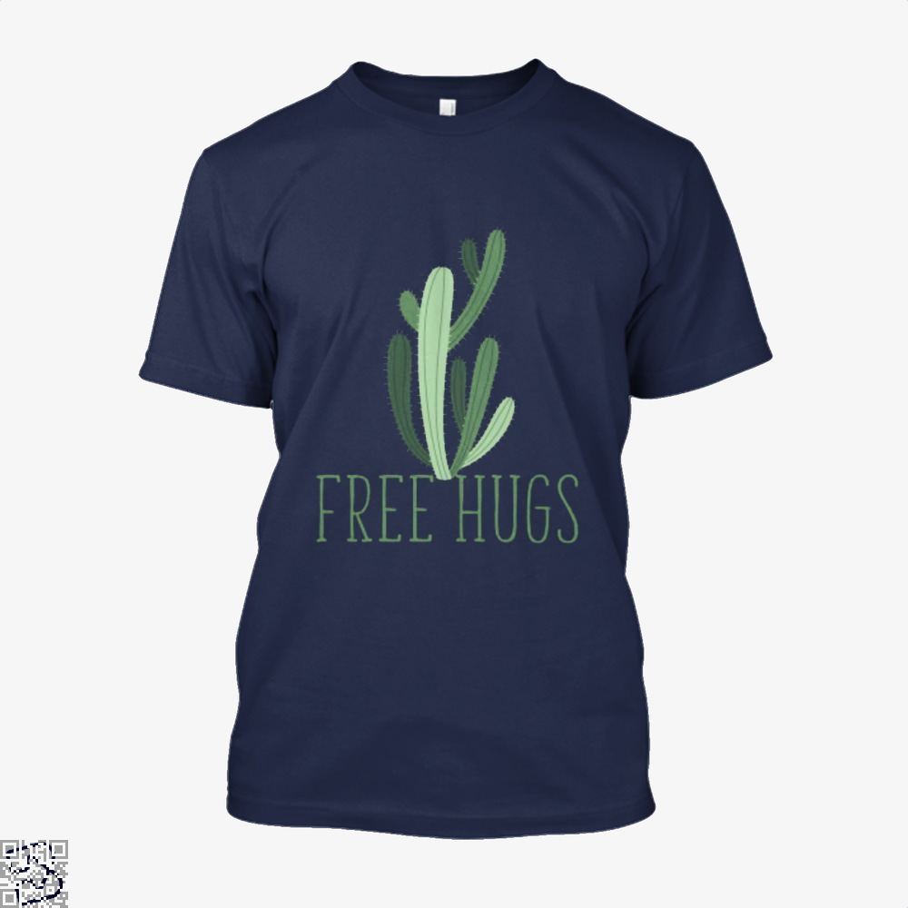 Free Hugs Cactus Satirical Shirt - Men / Blue / X-Small - Productgenapi