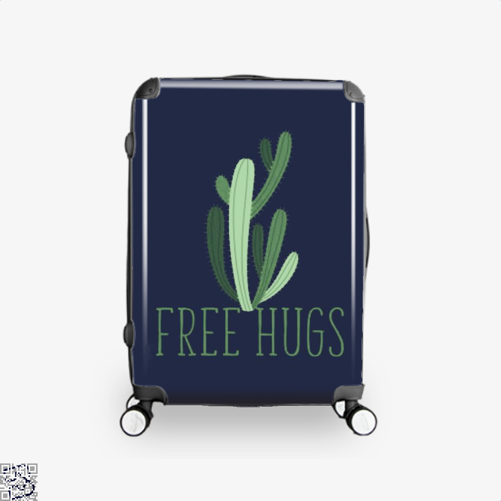 Free Hugs Cactus Satirical Suitcase - Blue / 16 - Productgenapi