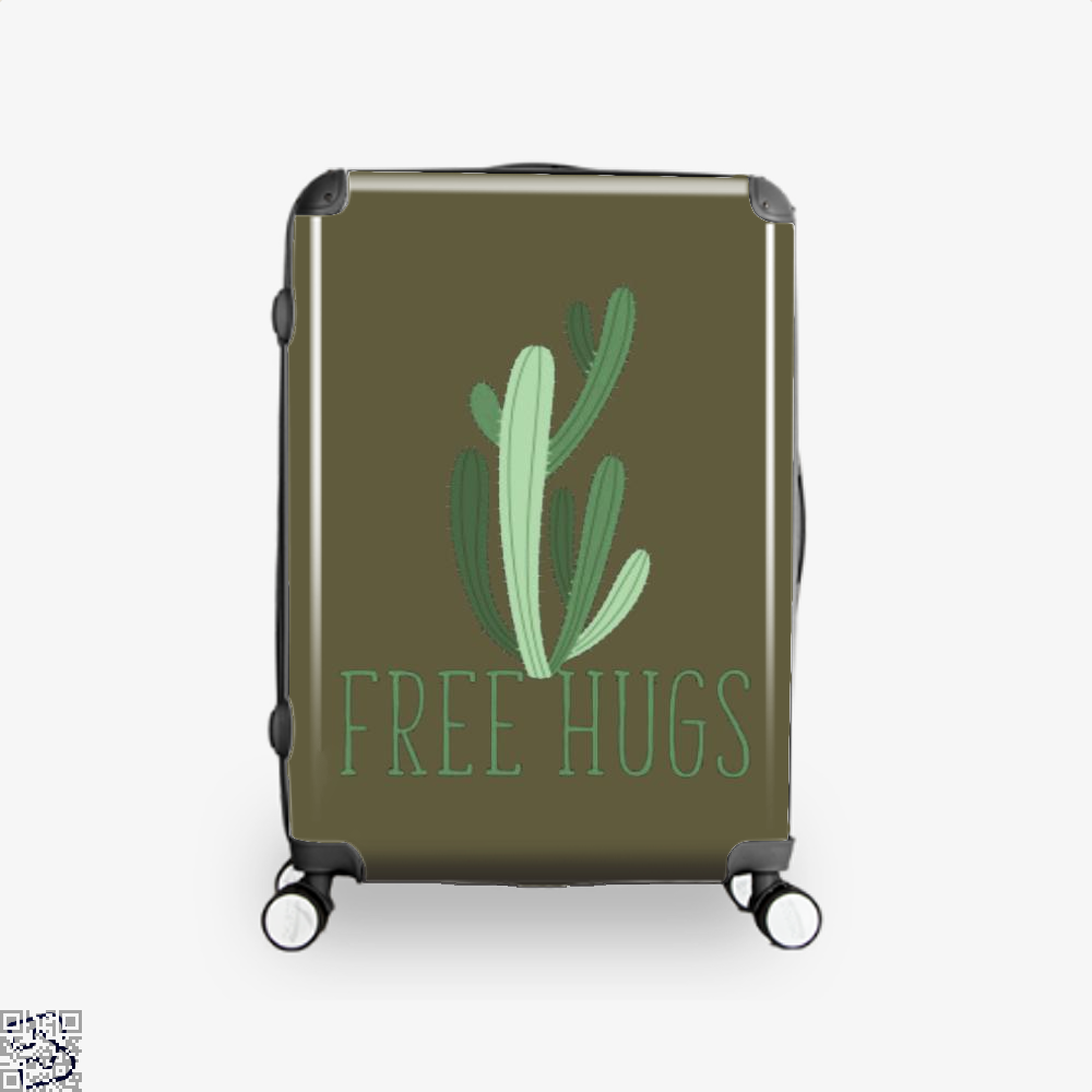 Free Hugs Cactus Satirical Suitcase - Brown / 16 - Productgenapi