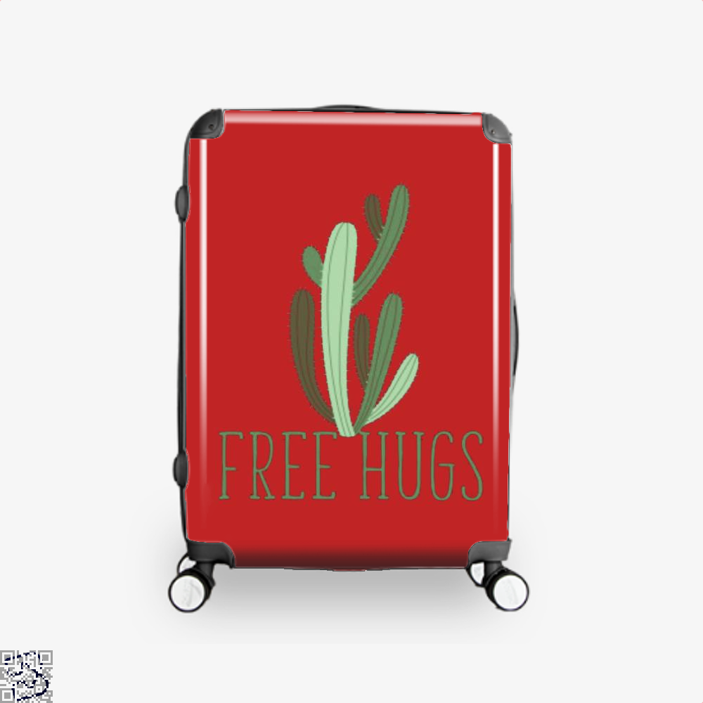 Free Hugs Cactus Satirical Suitcase - Red / 16 - Productgenapi