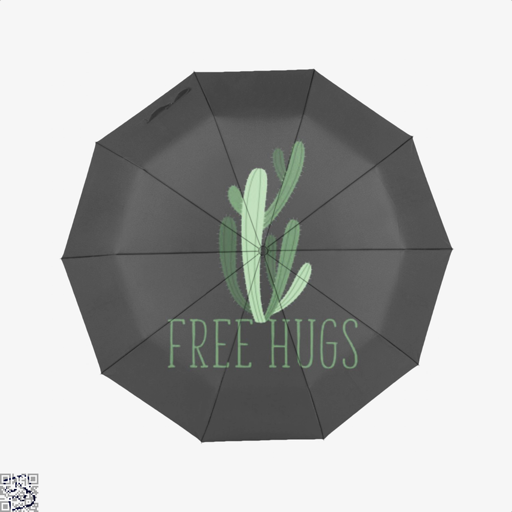 Free Hugs Cactus Satirical Umbrella - Black - Productgenapi