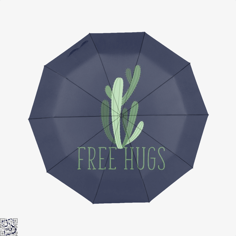 Free Hugs Cactus Satirical Umbrella - Blue - Productgenapi