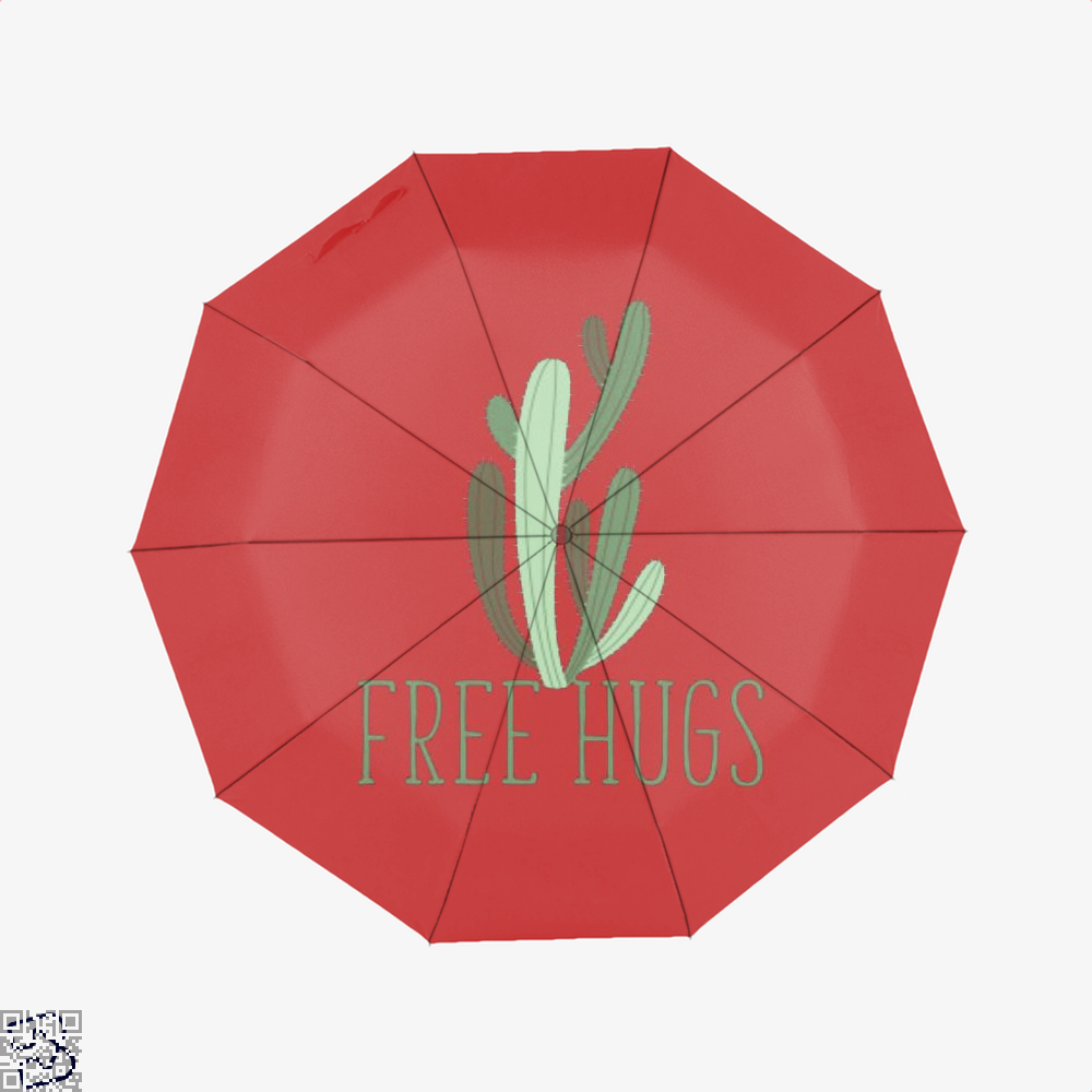Free Hugs Cactus Satirical Umbrella - Red - Productgenapi