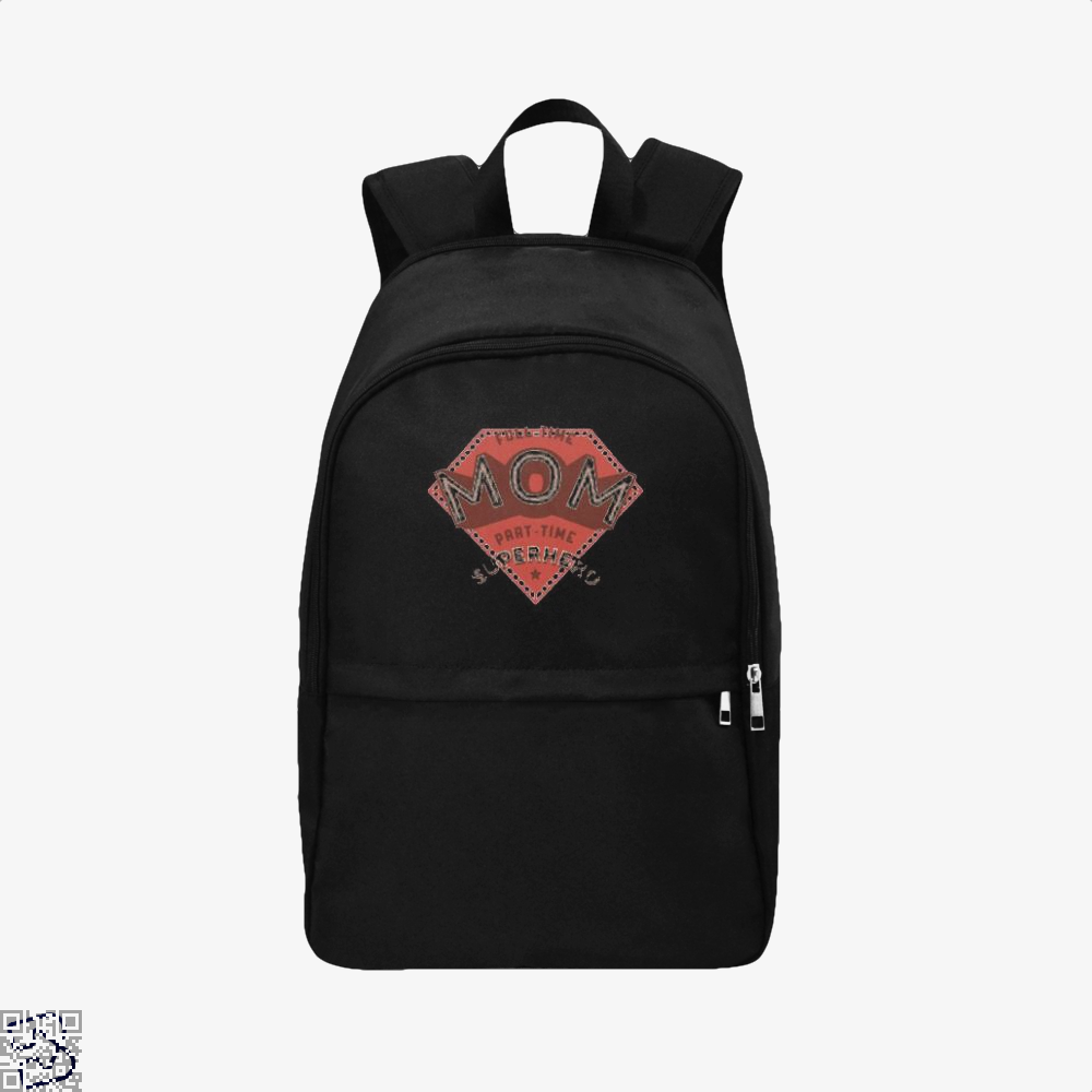 Full Time Mom Part Superhero Mothers Day Backpack - Black / Adult - Productgenjpg