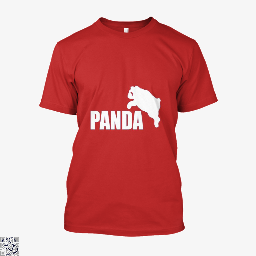 Funny Panda Bear Shirt - Men / Red / X-Small - Productgenjpg