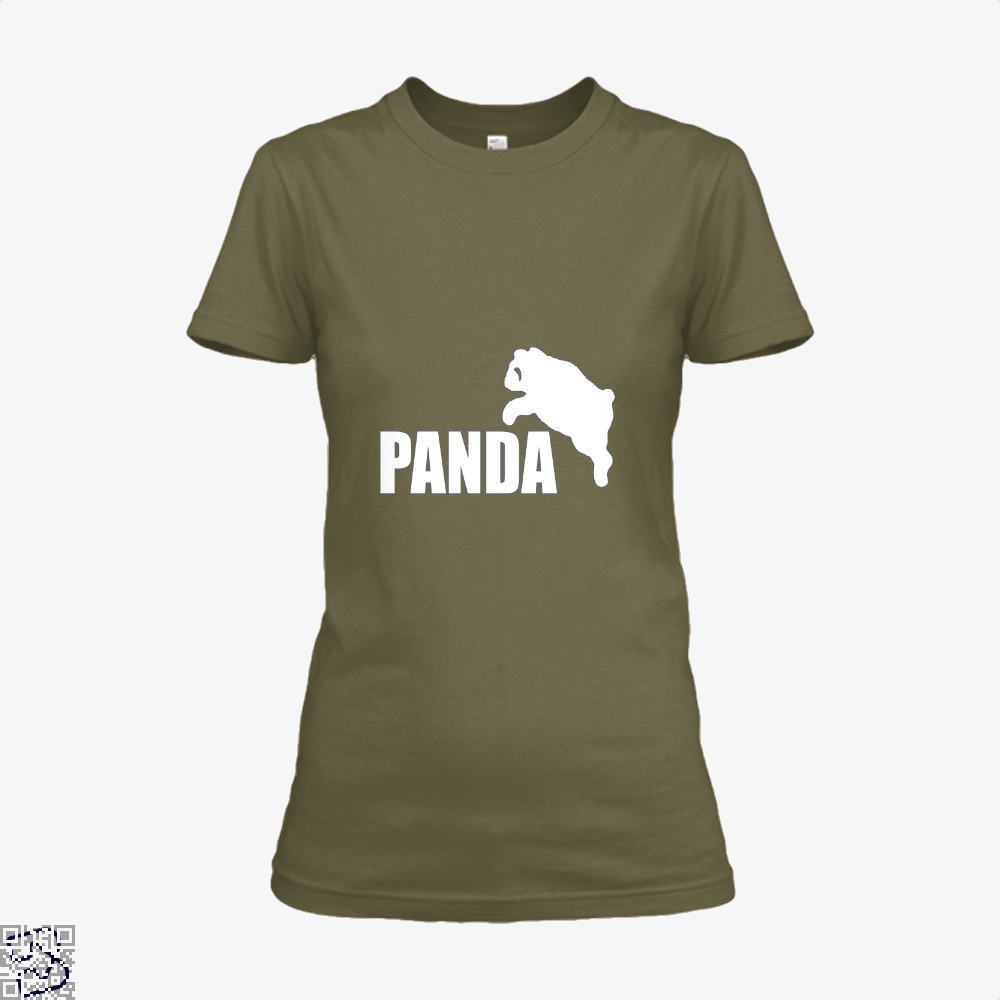 Funny Panda Bear Shirt - Women / Brown / X-Small - Productgenjpg