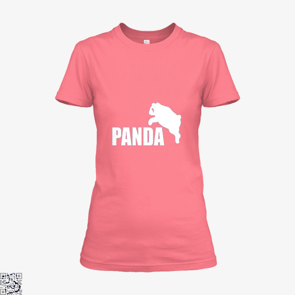 Funny Panda Bear Shirt - Women / Pink / X-Small - Productgenjpg