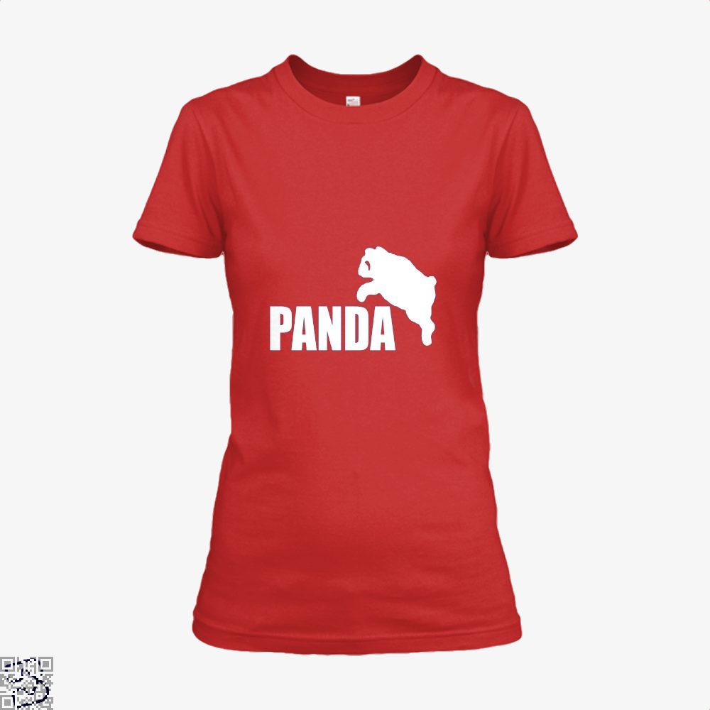 Funny Panda Bear Shirt - Women / Red / X-Small - Productgenjpg