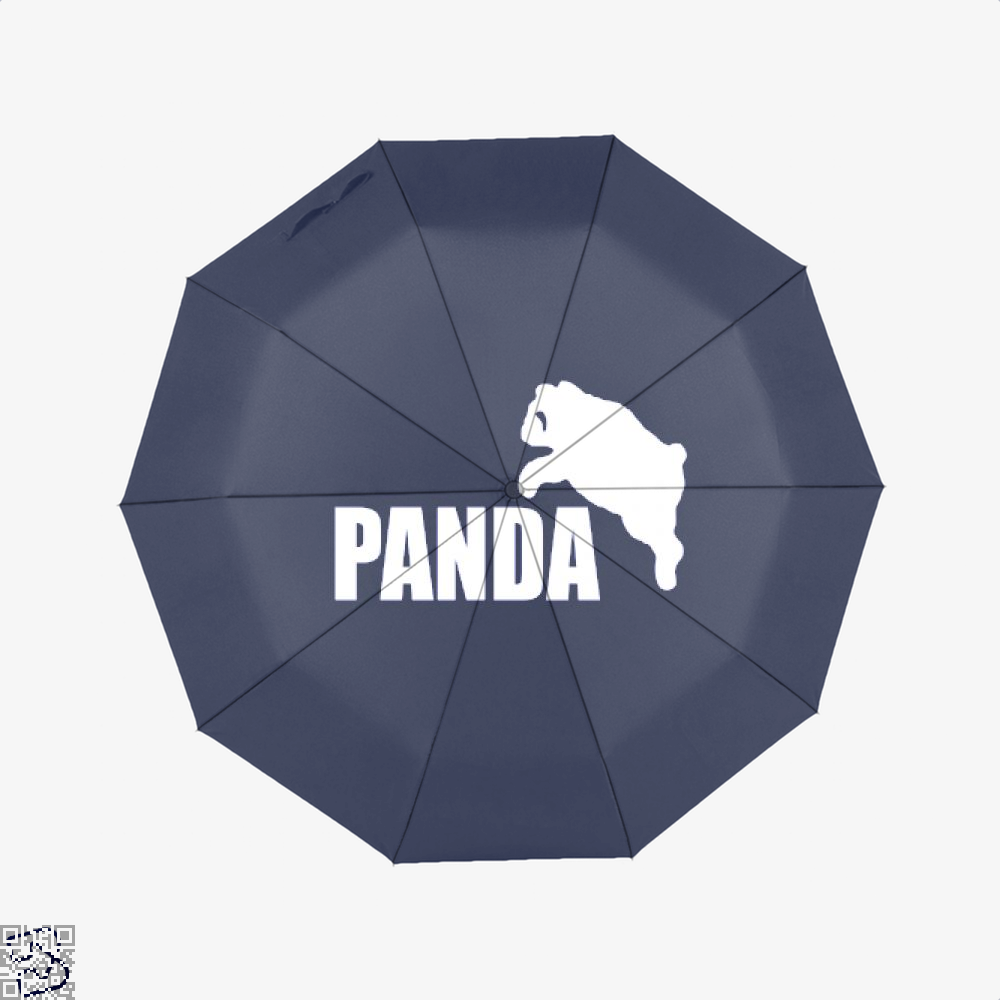 Funny Panda Bear Umbrella - Blue - Productgenjpg