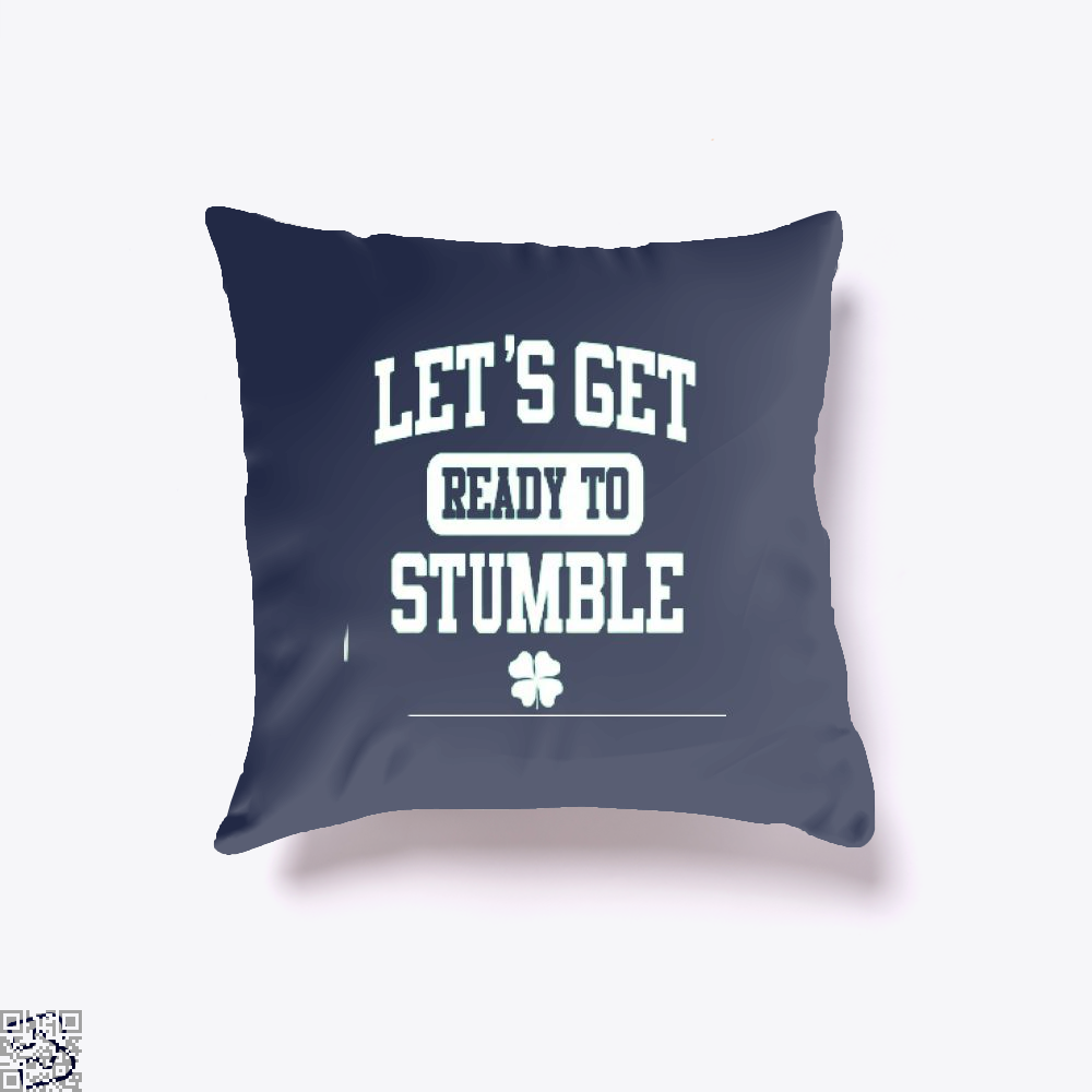 Funny St. Patricks Day Irish Clover Throw Pillow Cover - Blue / 16 X - Productgenjpg