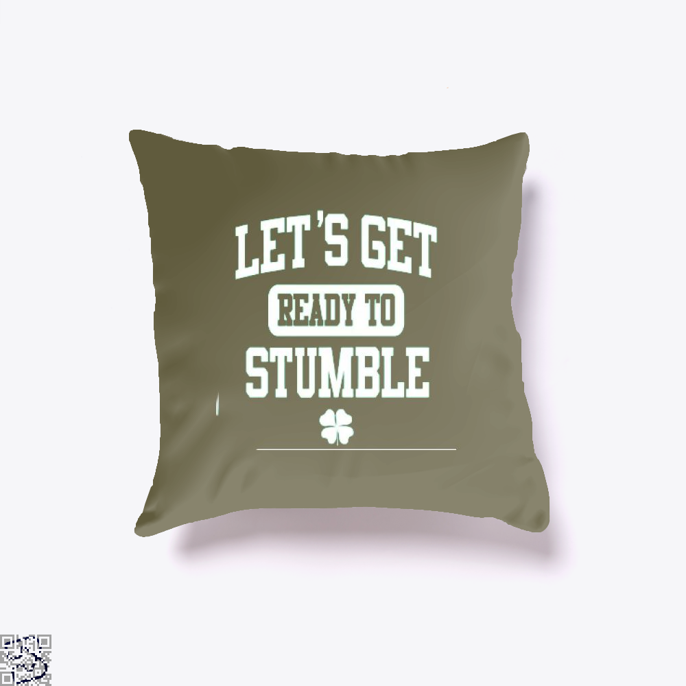 Funny St. Patricks Day Irish Clover Throw Pillow Cover - Brown / 16 X - Productgenjpg