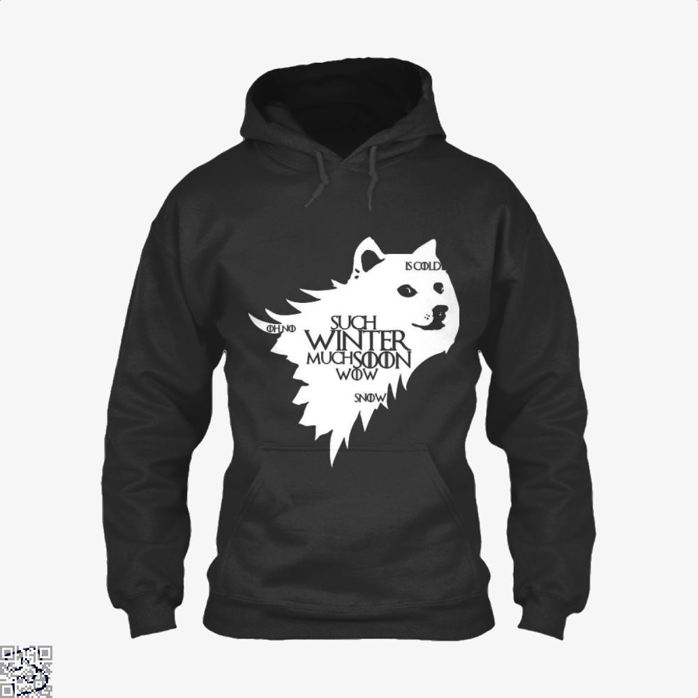Game Of Thrones Doge Such Winter Much Soon Wow Of Hoodie - Black / X-Small - Productgenjpg