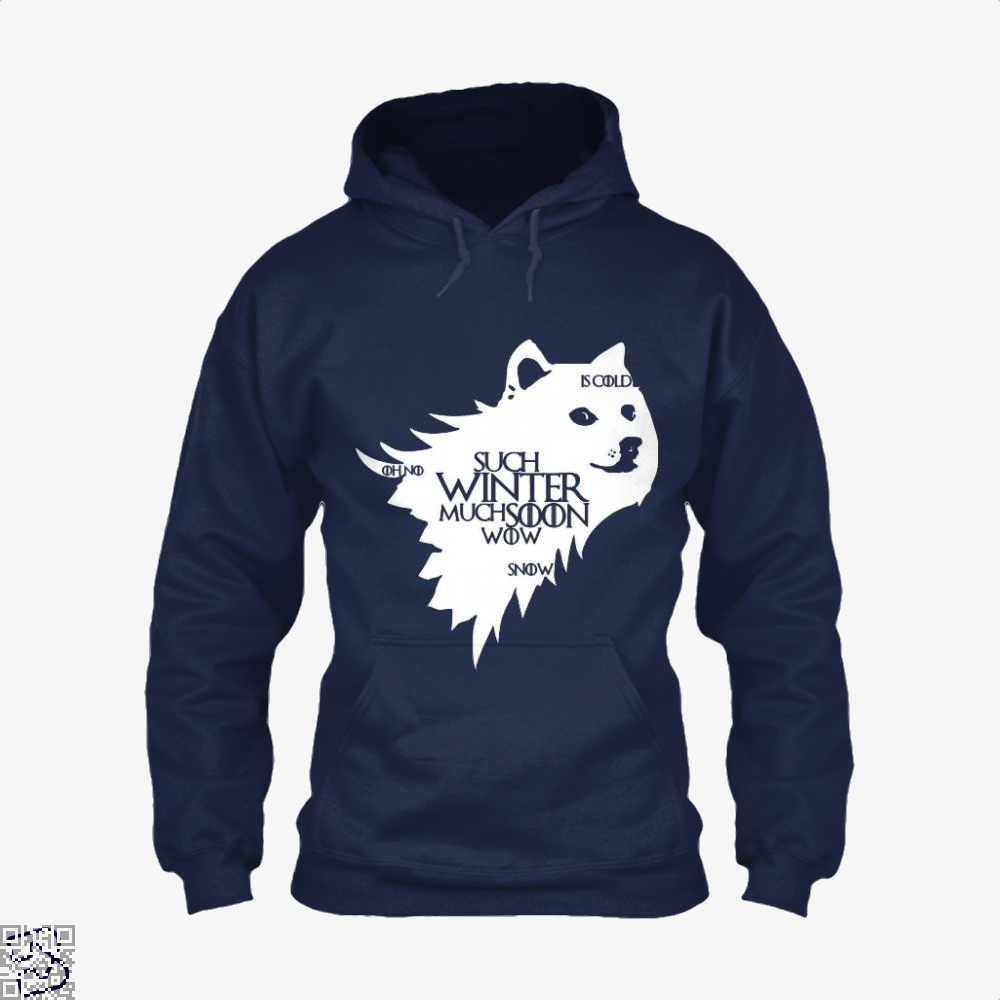 Game Of Thrones Doge Such Winter Much Soon Wow Of Hoodie - Blue / X-Small - Productgenjpg