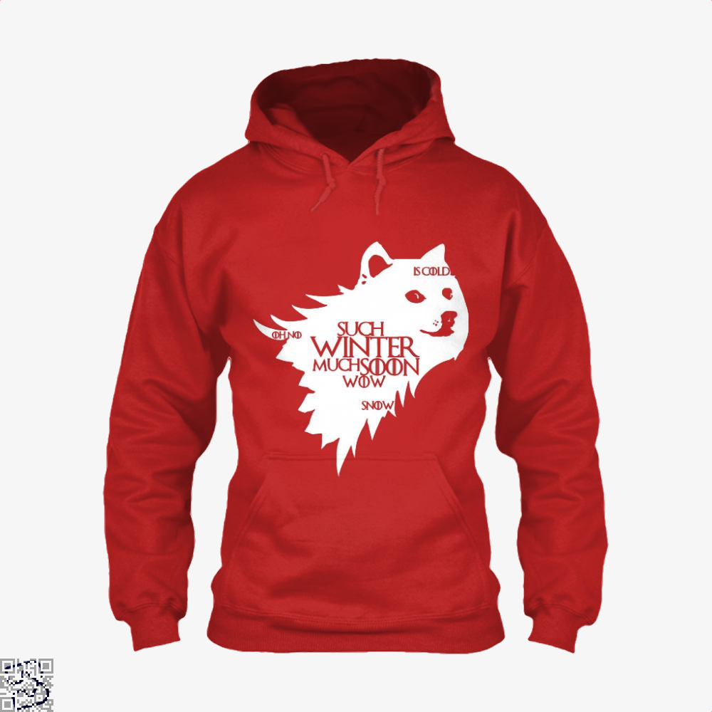 Game Of Thrones Doge Such Winter Much Soon Wow Of Hoodie - Red / X-Small - Productgenjpg