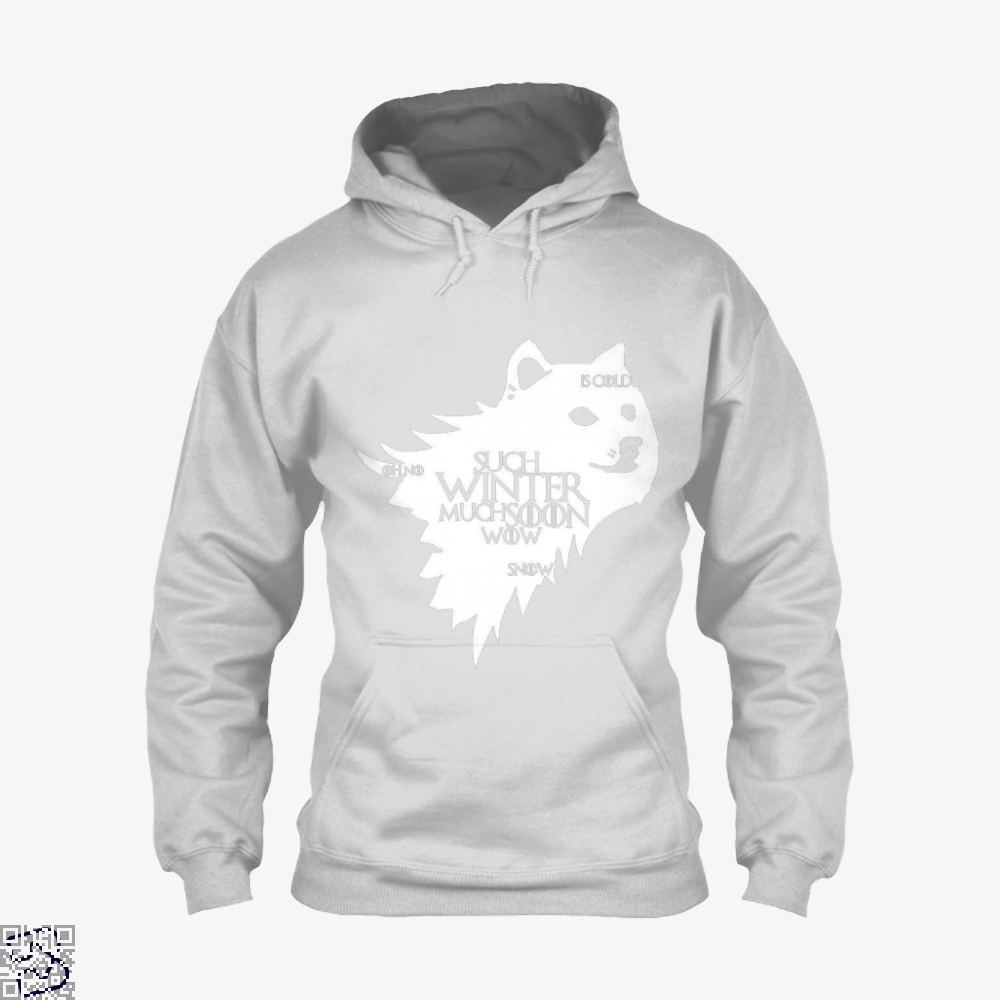Game Of Thrones Doge Such Winter Much Soon Wow Of Hoodie - White / X-Small - Productgenjpg